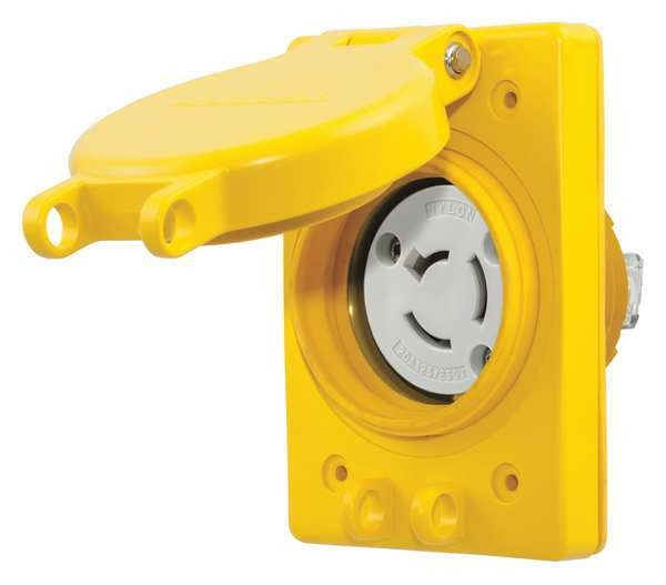 Hubbell Wiring Device-Kellems 20A Watertight Locking Receptacle 3P 3W 125/250VAC HBL67W08