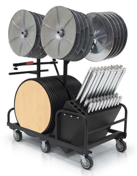 """Palmer Hamilton Round Table Kit ,  32"""" W 58"""" L 29"""",  42"""" H,  Maple Tabletop Aluminum STS-20-30RD-EE-KRM-C"""