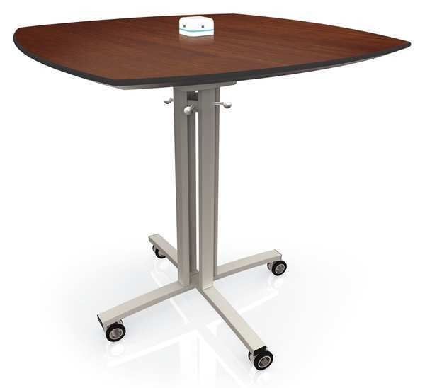 "Palmer Hamilton Squircle Bistro Table ,  30"" W 30"" L 42"" H,  Walnut Tabletop Laminate RELOAD-423030-QQ-SC-KE-KWG-MS"