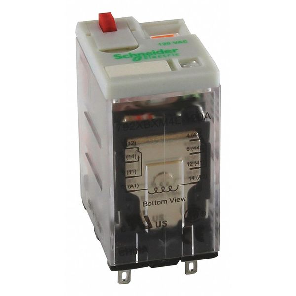 Schneider Electric Plug In Relay, 14 Pins, Square, 120VAC 792XDXM4L-120A
