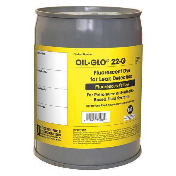 Spectroline Dye,  Oil,  Yellow,  Gallon OIL-GLO 22-G