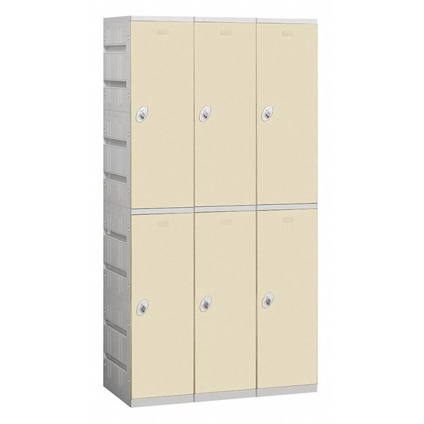 Salsbury Industries Wardrobe Locker, 38-1/4inWx18inD, ABS, Tan 92368TN-U
