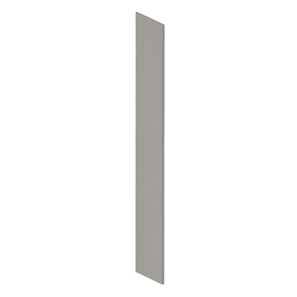 Salsbury Industries End Panel, Gray, 75 in H x 18 in W, Plastic 44434GRY