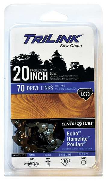Trilink Replacement Saw Chain, 20in. L, 70 Links CL85070NSTL2