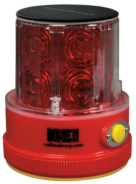 Railhead Gear Rechargeable Safety Light, Red, LED, Solar M18 Solar R