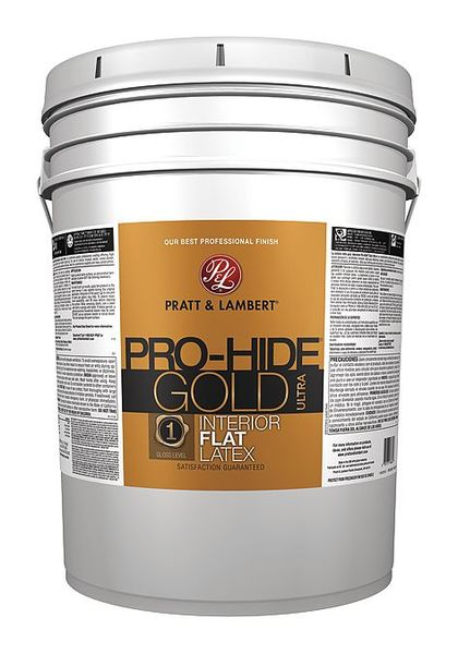 Pratt & Lambert 5 gal. Black Flat Latex Interior Paint,  Dry Time: 30 min 0000Z8185-20
