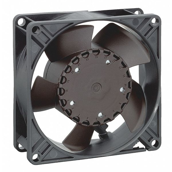 Ebm-Papst Axial Fan,  Square,  24V DC,  63 cfm,  3 5/8 in W. 3314NHH