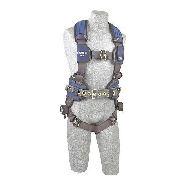 3M Dbi-Sala Full Body Harness,  Vest Style,  2XL,  Repel(TM) Polyester 1113244