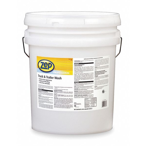 Zep Professional 5 Gal. Truck And Trailer Wash Pail,  Clear,  Wash 1041566