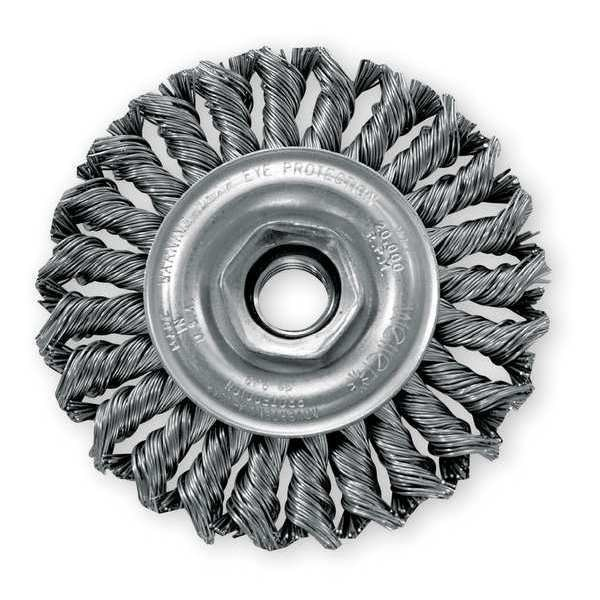 Weiler Knot Wire Wheel Wire Brush,  Threaded Arbor 93439