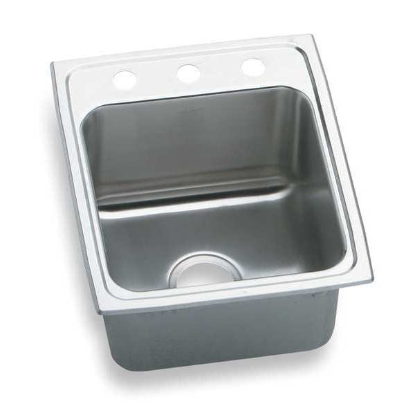 Elkay Drop-In Sink with Faucet Ledge,  3 Hole DLR1722103