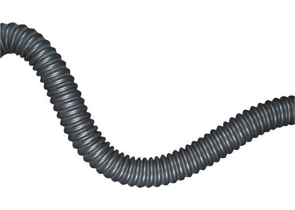 Hi-Tech Duravent Exhaust Hose, 4 In. ID, 11 ft. L, Rubber 0650-0400-0001