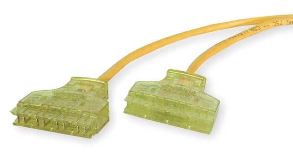 Hubbell Premise Wiring Patch Cord, Cat 6, Booted, Yellow, 3.0 ft. 6110PCL3