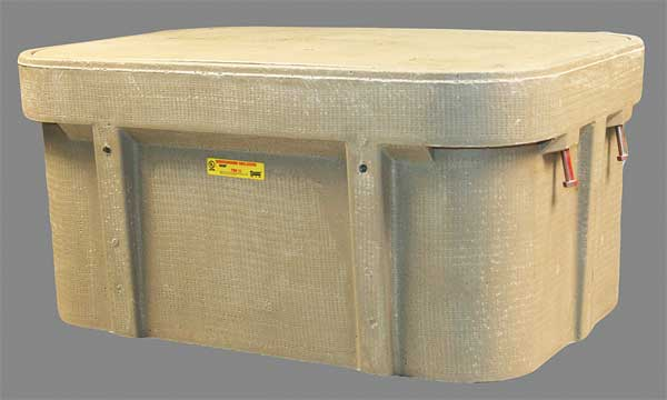"Quazite Underground Enclosure,  8000 lb.,  22-1/4""W,  Color: Gray PG2436Z80417"