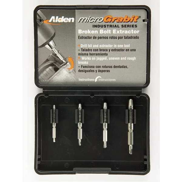 Alden Drill/Extractor Set, 4 PC, #5-1/4 In Cap 4507P