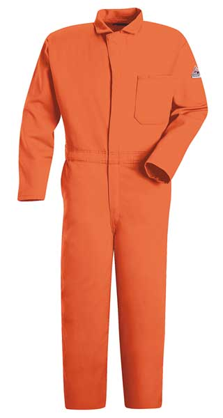 Bulwark FR Contractor Coverall, Orange, XL, HRC2 CEC2OR LN 46