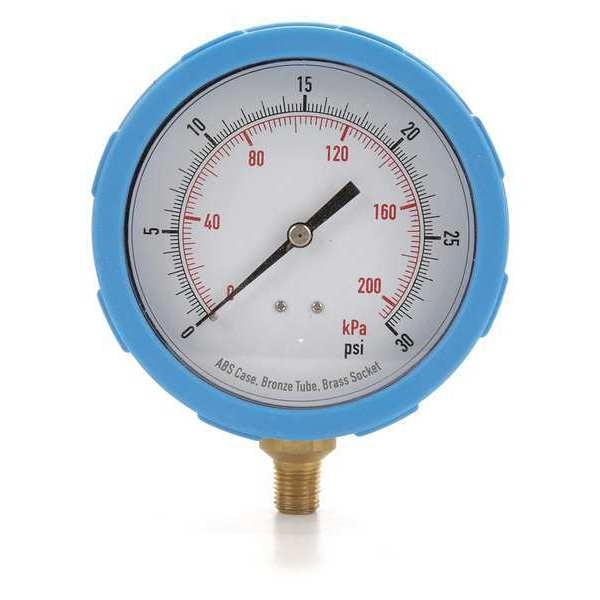Zoro Select Pressure Gauge, Test, 4 In 4EFG2