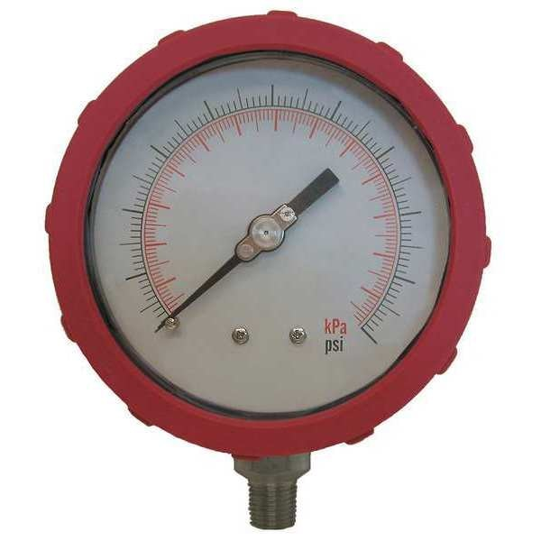 Zoro Select Pressure Gauge, Test, 4 In 4EFH8