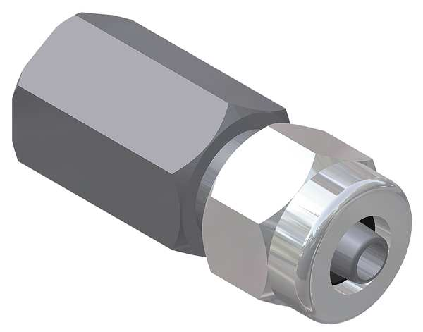 Continental Industries Female Adapter, 1 x 1/2 In, Npt x Tube 0442-00-1514-00