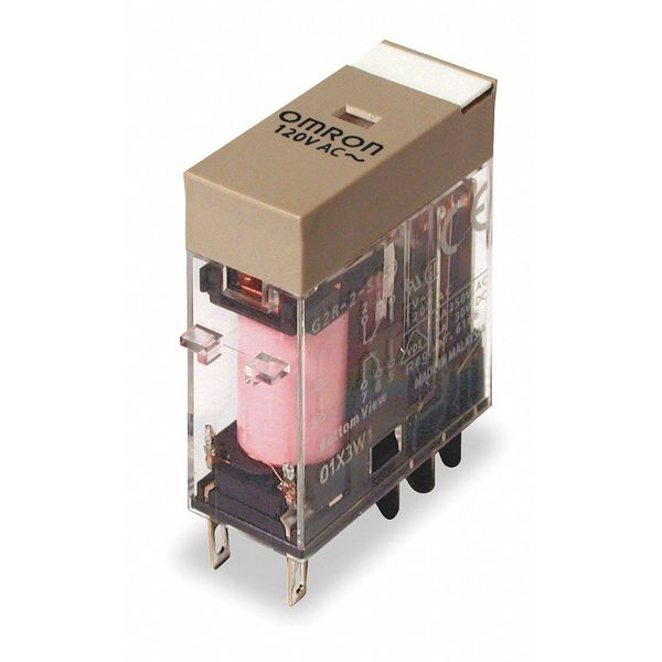 Omron Plug In Relay, 8 Pins, Square, 24VAC G2R-2-S-AC24(S)