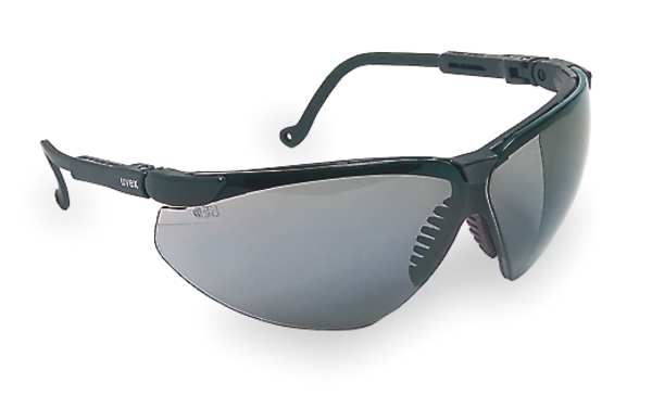 Honeywell Uvex Safety Glasses With Black Frame And Gray Anti-Fog Lens S3301X