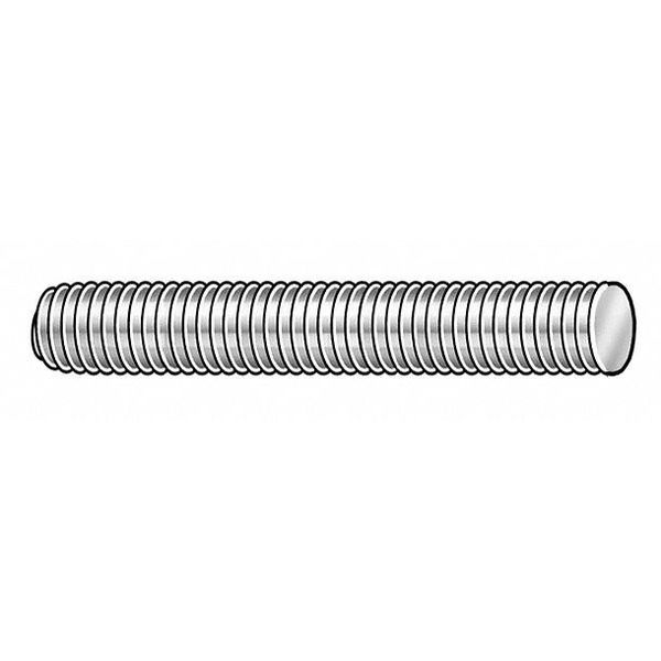 """Zoro Select 1/4""""-20 x 1' Zinc Plated Low Carbon Steel Threaded Rod,  Length: 1 ft LC.01402001.ZP.DAR"""