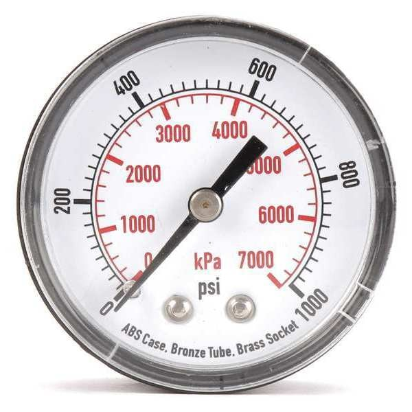 Zoro Select Pressure Gauge, Test, 2 In 4FMD3