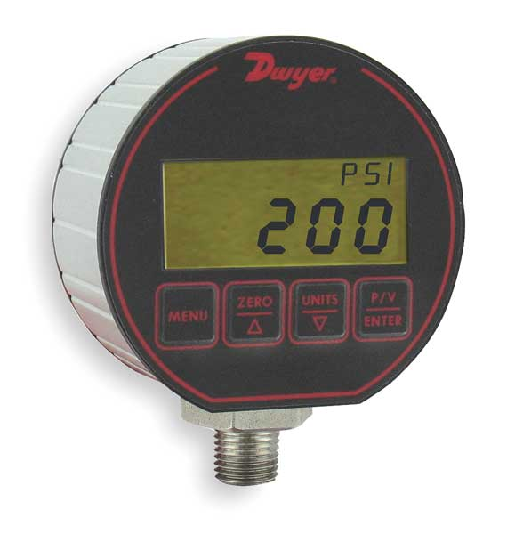 Dwyer Instruments Transducer with Display, 0 to 500 Psi DPG-208
