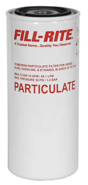 Fill-Rite Fuel Filter Canister, 8-1/2x3-5/8x8-1/2In F1810PM0