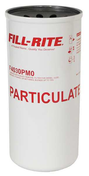 Fill-Rite Fuel Filter Canister, 10-3/4x5x10-3/4 In F4030PM0