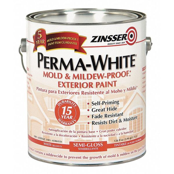 Zinsser 1 gal. White Semi-gloss Water Interior/Exterior Paint 3131