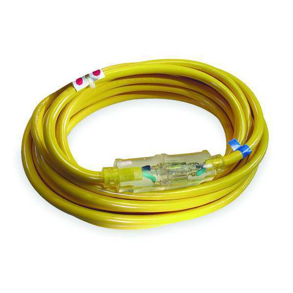 Power First 50 ft. 10/3 Lighted Extension Cord SJTOW,  Voltage: 125V AC 4FZZ7