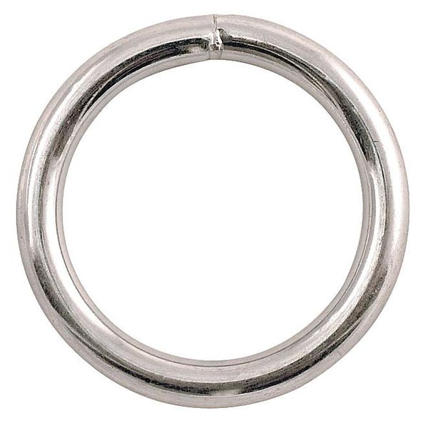 Lucky Line Products Connector, Welded Ring, Steel, Cap 450 lb 4GGL6