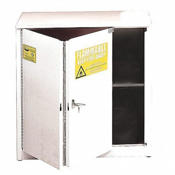 Eagle Flammable Safety Cabinet,  30 gal.,  White,  Number of Doors: 2 3010WHTE