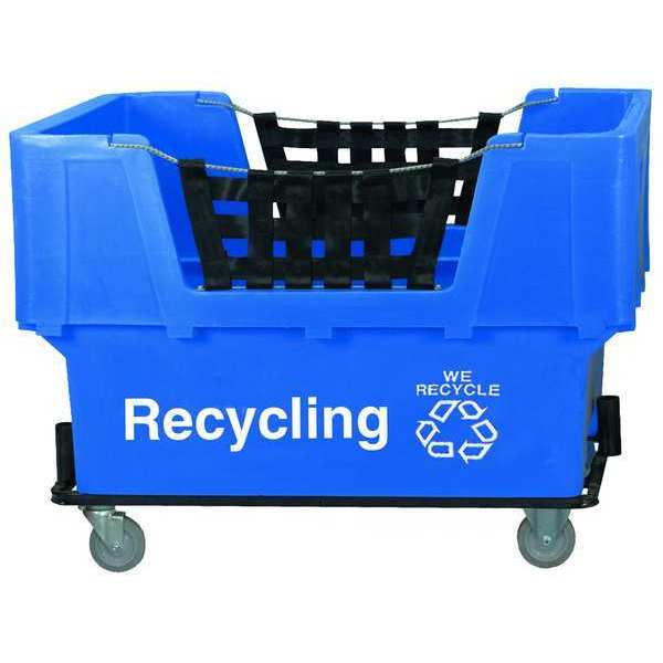 Zoro Select Material Handling Cart, Blue, Recycling N1017261-BLUE-RECYCLE