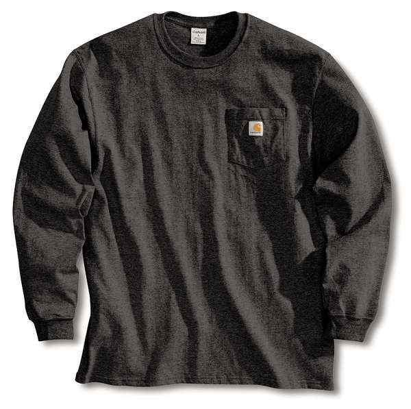 Carhartt Long Sleeve T-Shirt, Black, XL K126-BLK XLG REG
