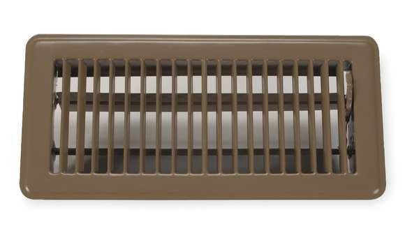 Zoro Select Floor Register ,  4 X 12 ,  Brown ,  Steel 4JRR5