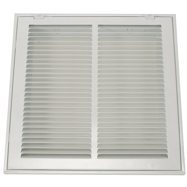Zoro Select Filtered Return Air Grille ,  12 X 12 ,  White ,  Steel 4MJT1
