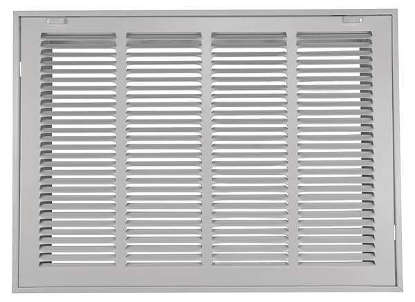 Zoro Select Filtered Return Air Grille ,  14 X 24 ,  White ,  Steel 4MJT7