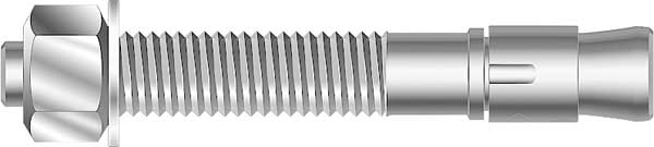 MKT FASTENING 2634100 Wedge Anchor,Zinc Plated,3//4x10,PK10
