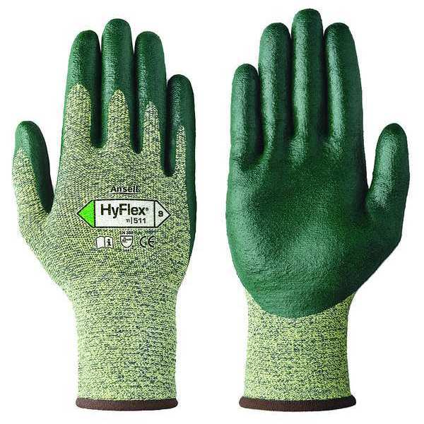 Ansell Cut Resistant Gloves, Yellow/Green, XS, PR 11-511