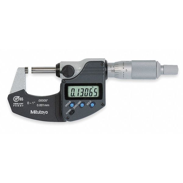 "Mitutoyo Digital Micrometer, 0 to 1"", Ratchet 293-340-30"