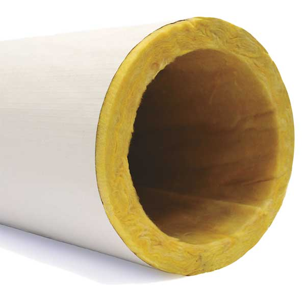 """Owens Corning 5"""" x 3 ft. Pipe Insulation,  1"""" Wall 722613"""