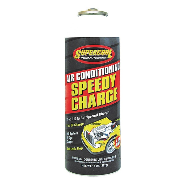 Supercool A/C 134a Charge and Ester Lubricant Can Yellow/Green Tint,  1 PK 9473