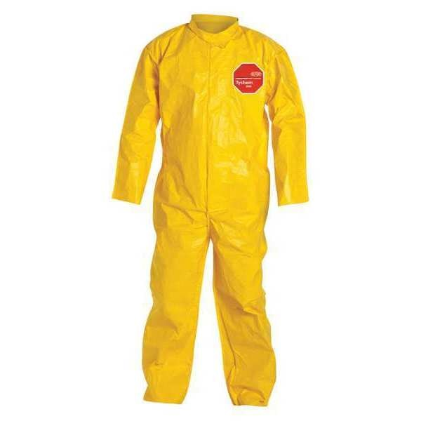 Dupont Collared Coverall, Open, Yellow, 5XL, PK12 QC120BYL5X001200