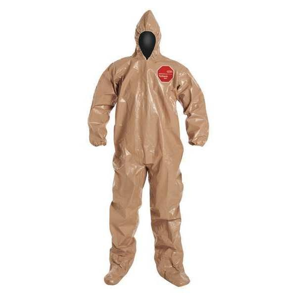 Dupont Hooded Chemical Resistant Coveralls ,  3XL ,  Tan ,  Tychem(R) 5000 ,  C3122TTN3X000600