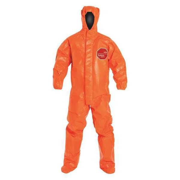 Dupont Hooded Coverall, Socks/Boot Flaps, 5XL, PK2 TP199TOR5X000200