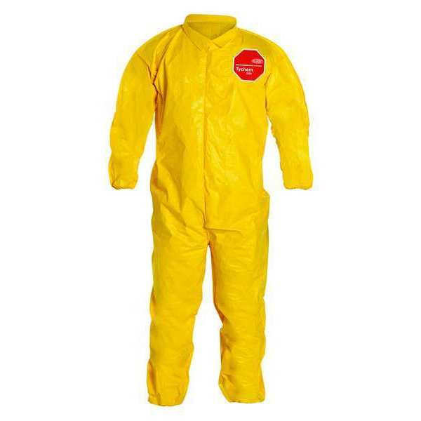 Dupont Collared Coverall, Yellow, 6XL, PK12 QC125BYL6X001200