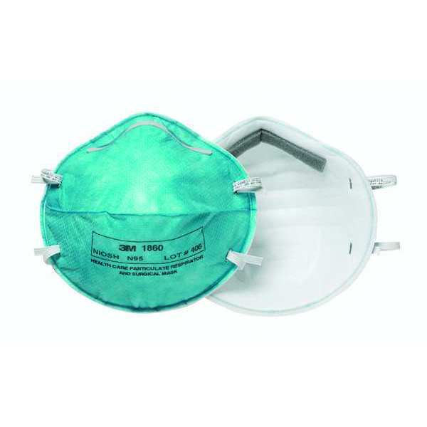 N95 Universal Healthcare Pk20 Green Respirator Disposable