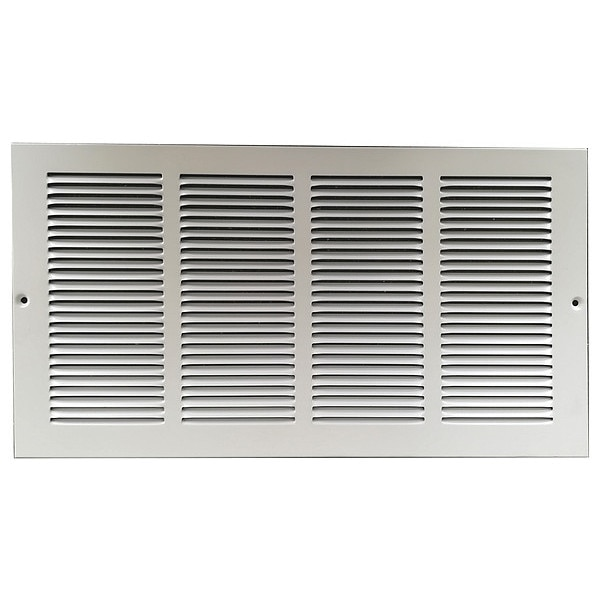 Zoro Select Return Air Grille ,  20 X 20 ,  White ,  Steel 4MJR5